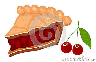 De pastei van de kers