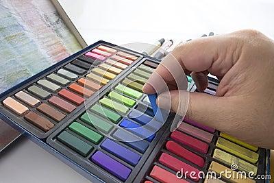 De Pastelkleuren van het krijt
