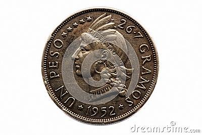 De pesomuntstuk van de V.N.