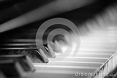 De piano van de jazz