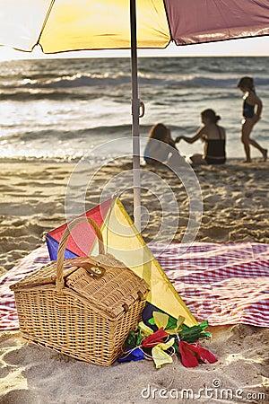 De picknick van het strand