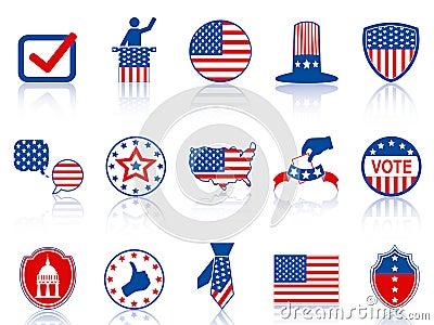 De pictogrammen en de knopen van de verkiezing