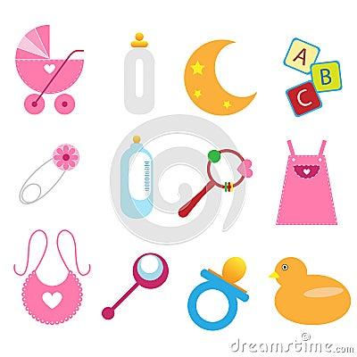 De pictogrammen van de baby - meisje