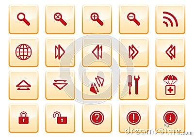 De pictogrammen van de computer