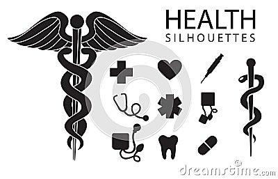 De pictogrammen van de gezondheid