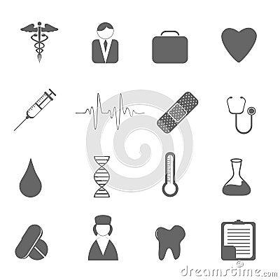 De pictogrammen van de gezondheidszorg