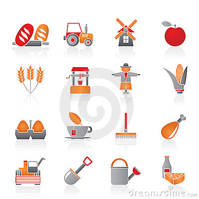 De pictogrammen van de landbouw en van de landbouw