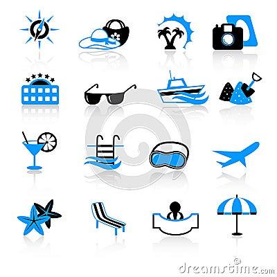De pictogrammen van de reis