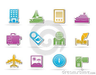 De pictogrammen van de reis, van de vakantie en van de vakantie