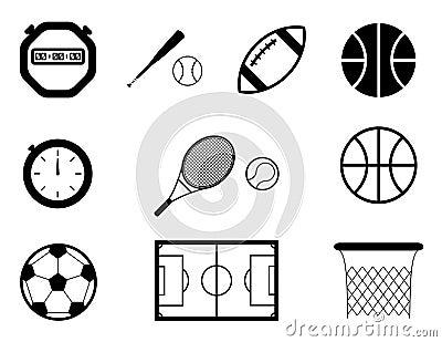 De pictogrammen van de sport