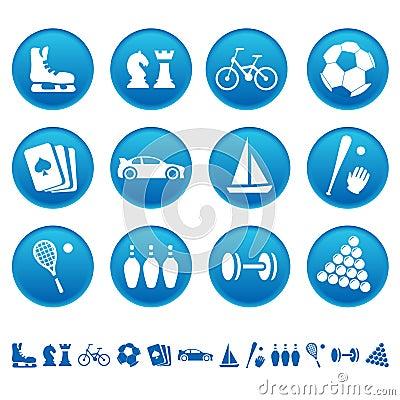 De pictogrammen van de sport & van de hobby