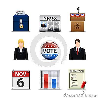 De Pictogrammen van de verkiezing