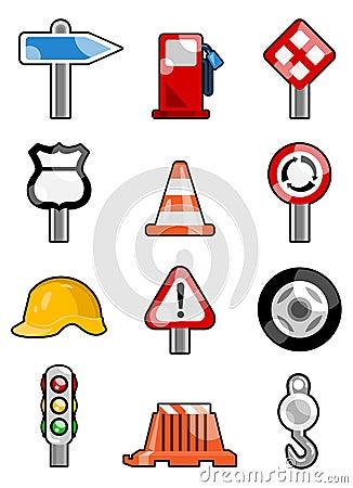 De pictogrammen van het verkeer