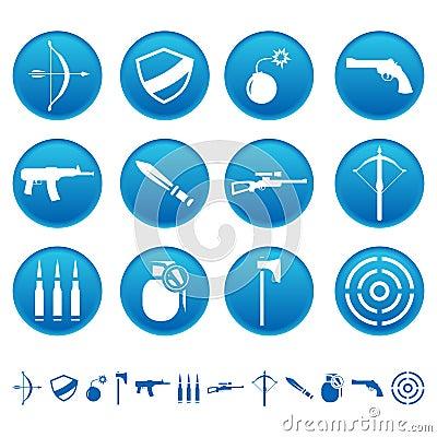 De pictogrammen van het wapen