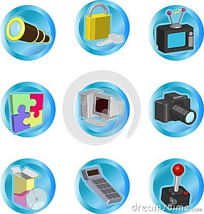 De Pictogrammen van het Web en van de Gegevensverwerking