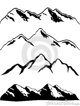 De pieken van de berg