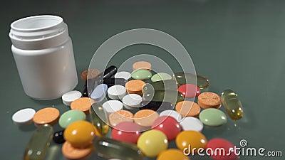 De Pillen van de voorschriftdrug stock videobeelden
