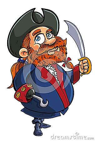 De piraatkapitein van het beeldverhaal