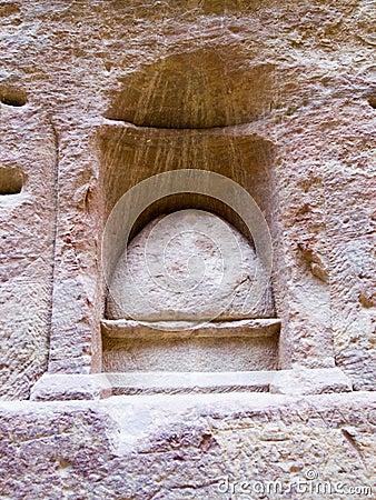 De plaats van Nabatean van godsverering