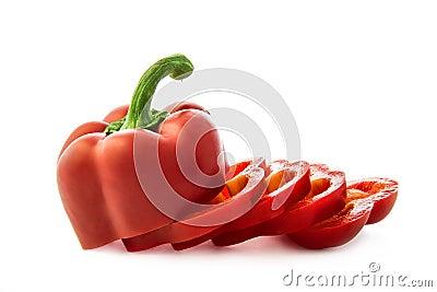 De plakken van de peper