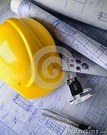 De plannen van de bouw