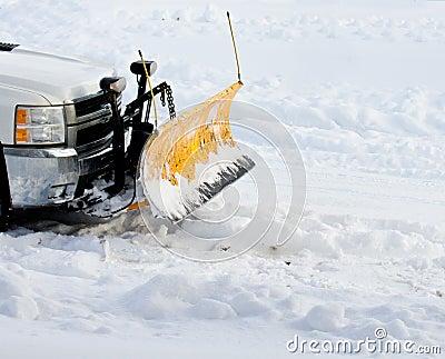 De ploeg van de sneeuw