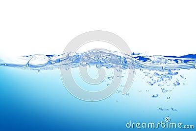 De plons van het water