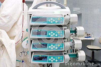 De pompen van de infusie