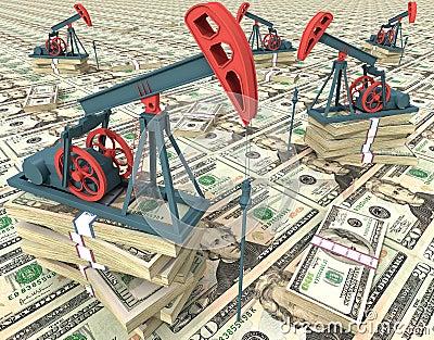 De pompen van de olie
