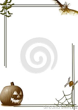 De pompoengrens van Halloween