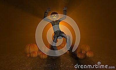 De pompoenmens van Halloween