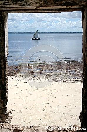 De poort aan Mozambique