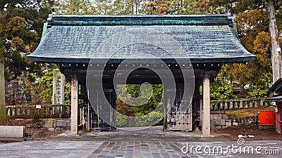 De Poort van de Tempel van Rinnoji