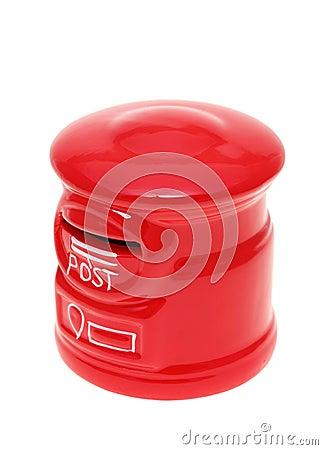 De post spaarpot van de bankstijl