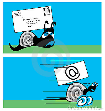 De post van de slak