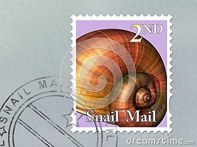 De postenvelop van de slak