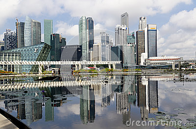 De prachtige stad van Singapore Redactionele Fotografie