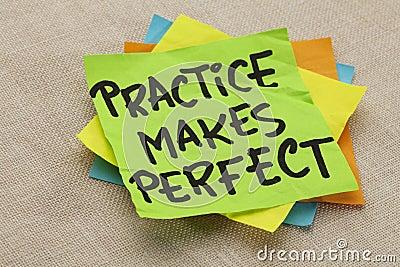 De praktijk maakt perfect