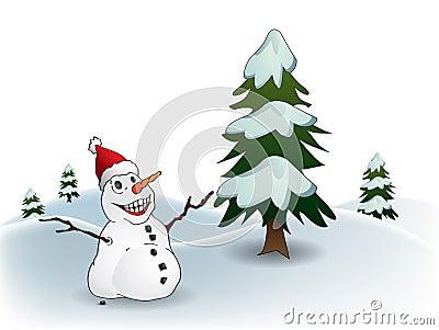 De Prentbriefkaar van de sneeuwman