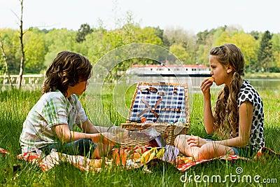 De pret van de picknick