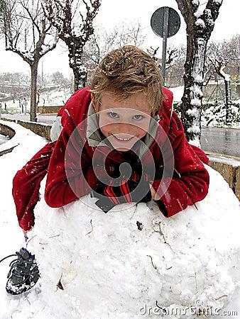 De pret van de sneeuw