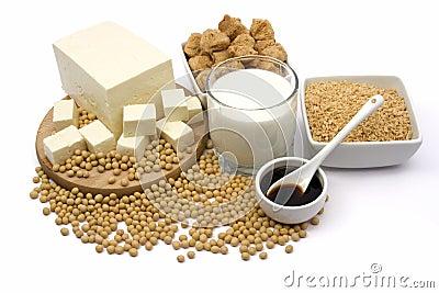 De producten van de soja