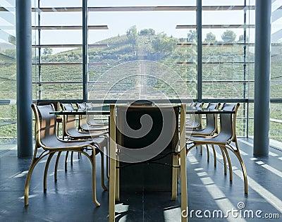 De Proevende Zaal van de wijn