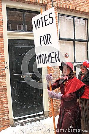De rechten van vrouwen Redactionele Stock Afbeelding