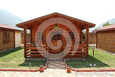 De recreatiecabine van het kamp
