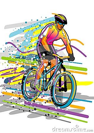 De reeks van de sport: fietser