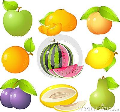 De reeks van het fruit