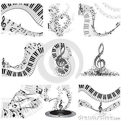 De reeks van het muzieknotenpersoneel