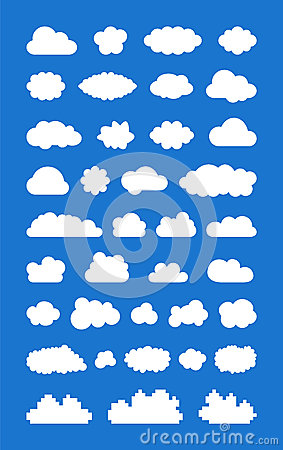 De reeks van ized Wolken