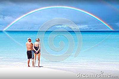 De regenboog van de pensionering Redactionele Afbeelding